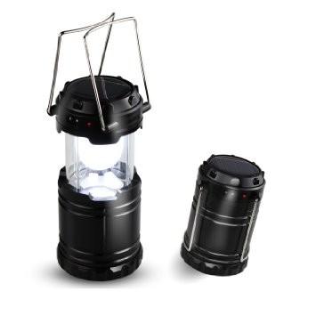 Соларен фенер за къмпинг (зарядно за телефон) 6 LED диода