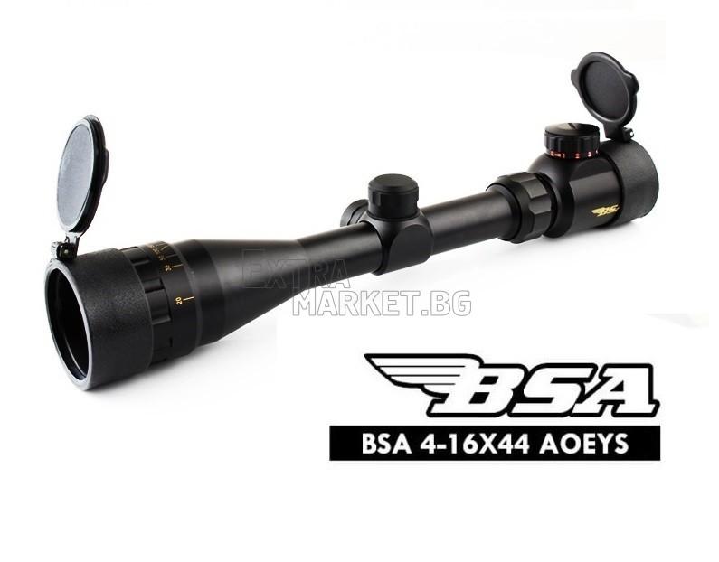 Оптика BSA 4-16X44 с осветление (Червено/Зелено)