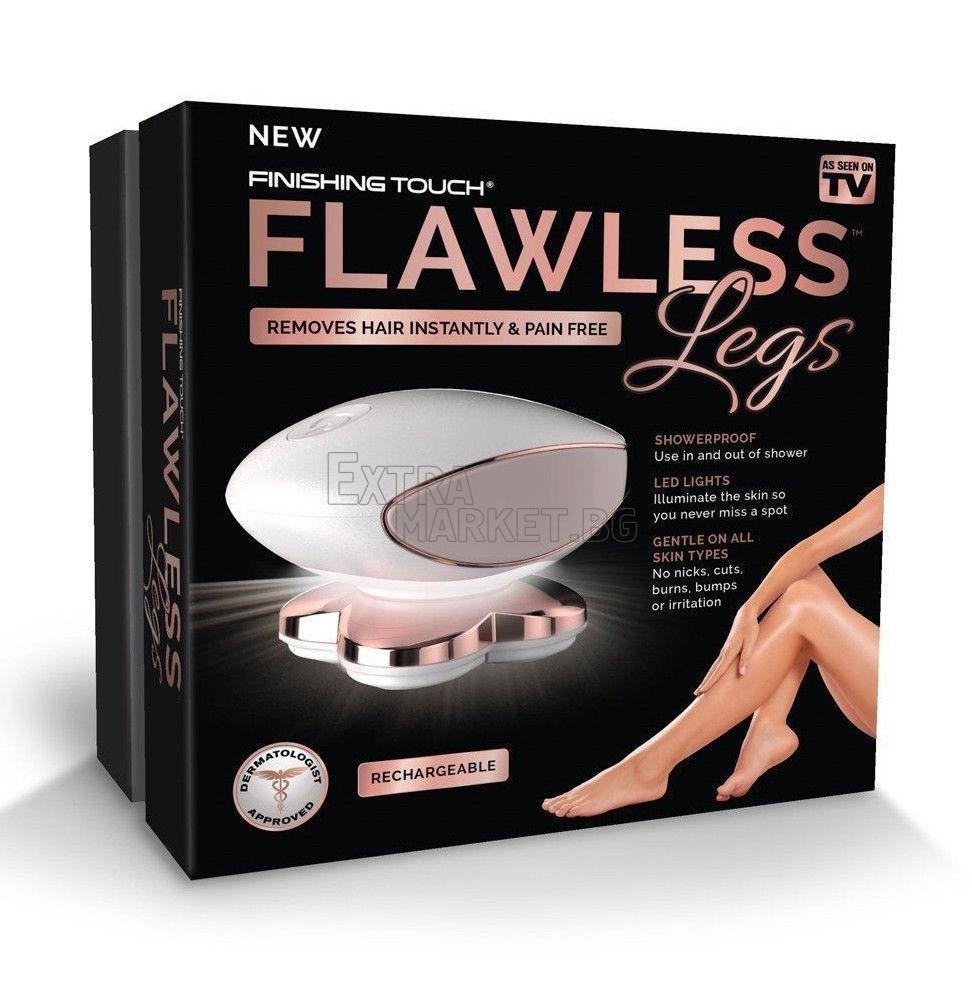 Епилатор FLAWLESS Legs с четири глави и модерен дизайн