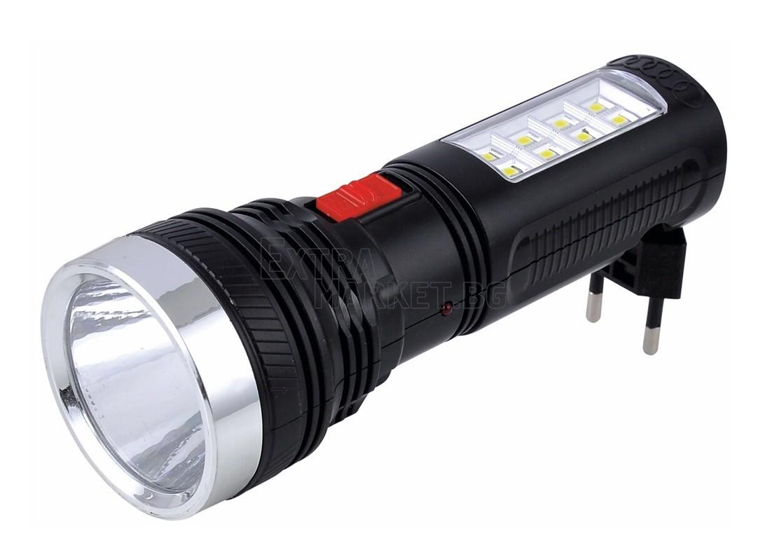 LED Фенер (1+8 диода) с вграден акумулатор