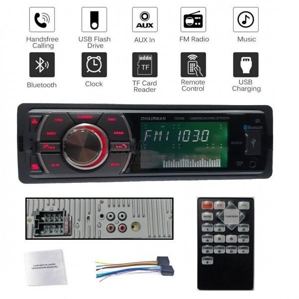 Автомобилен MP3 & FM Bluetooth радиоприемник USB/microSD слотове