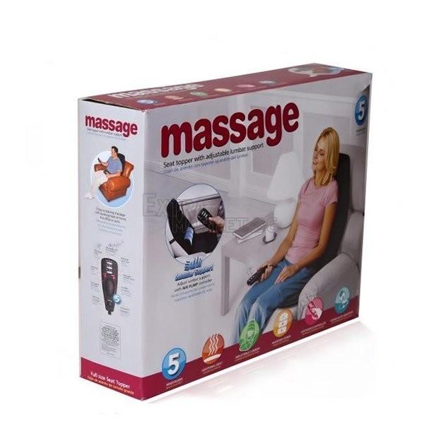 Масажираща седалка-масажор за кола с подгряваща функция