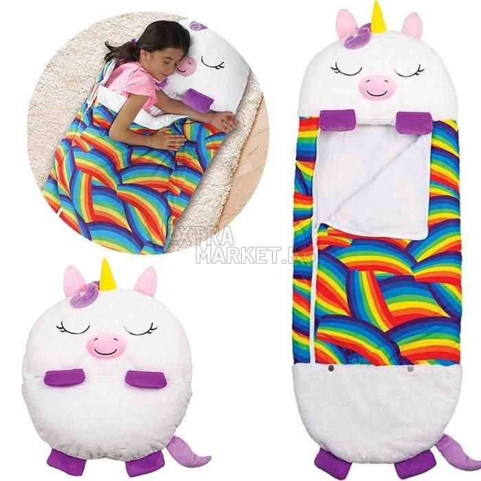 Мултифункционален детски спален чувал-възглавница