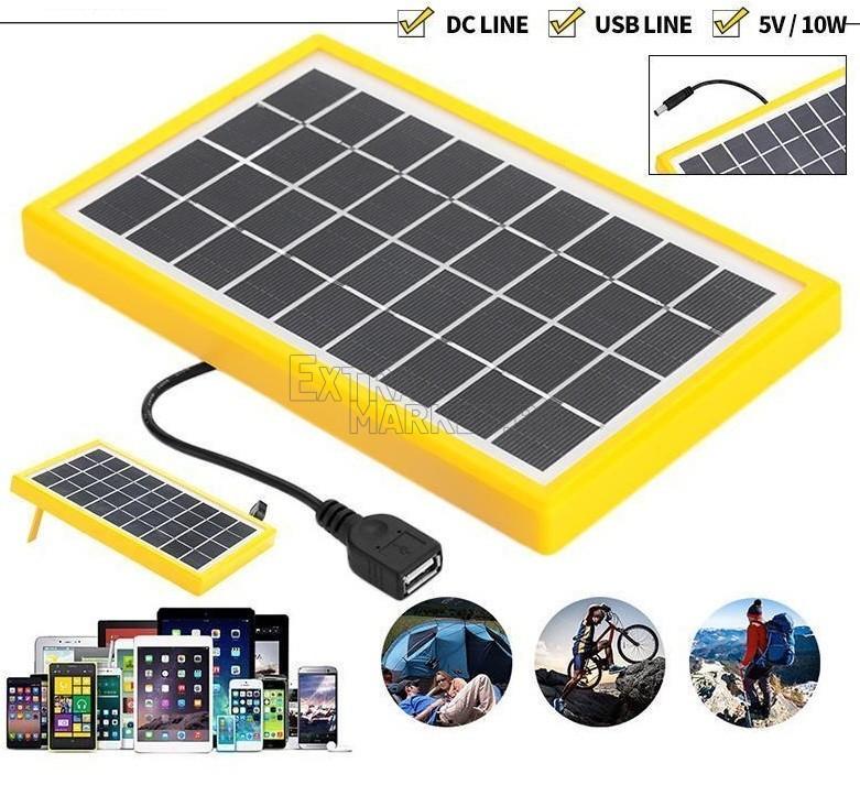 Соларен панел за зареждане на телефон или други устройства на 6 волта