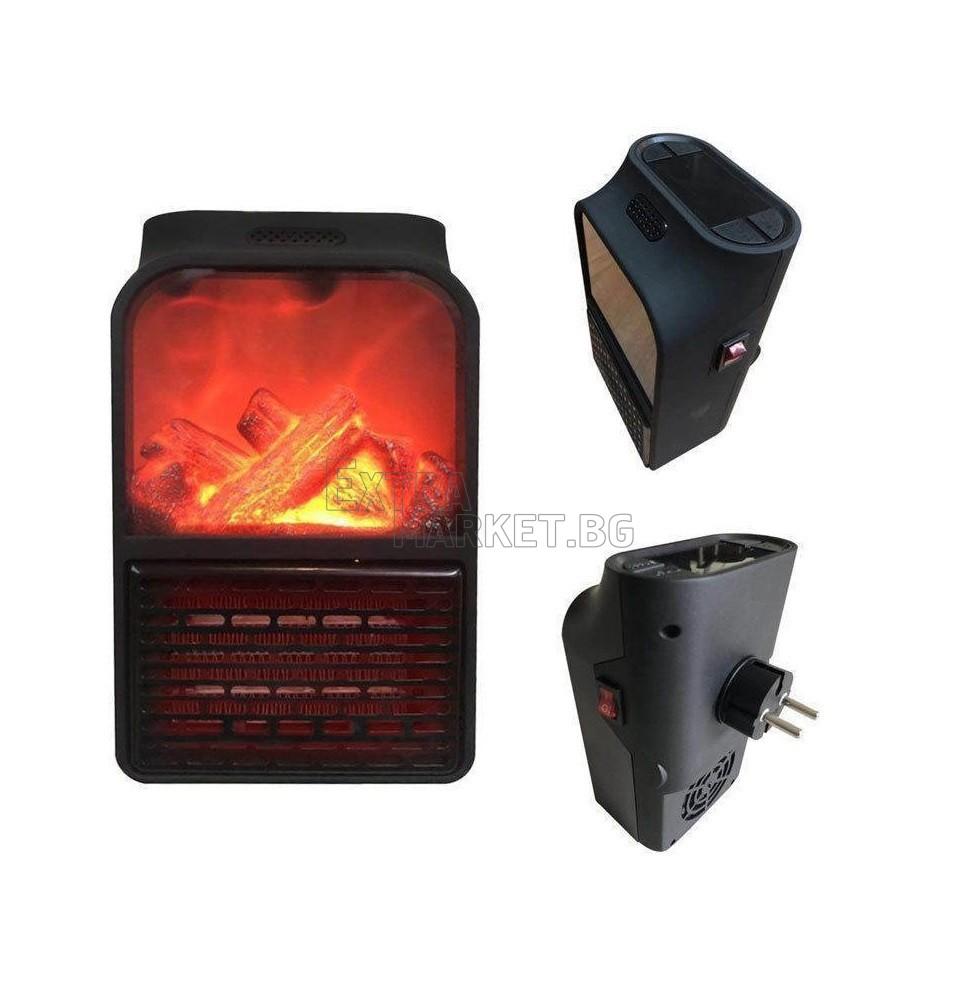 Мини печка духалка Flame Heater имитираща жив огън