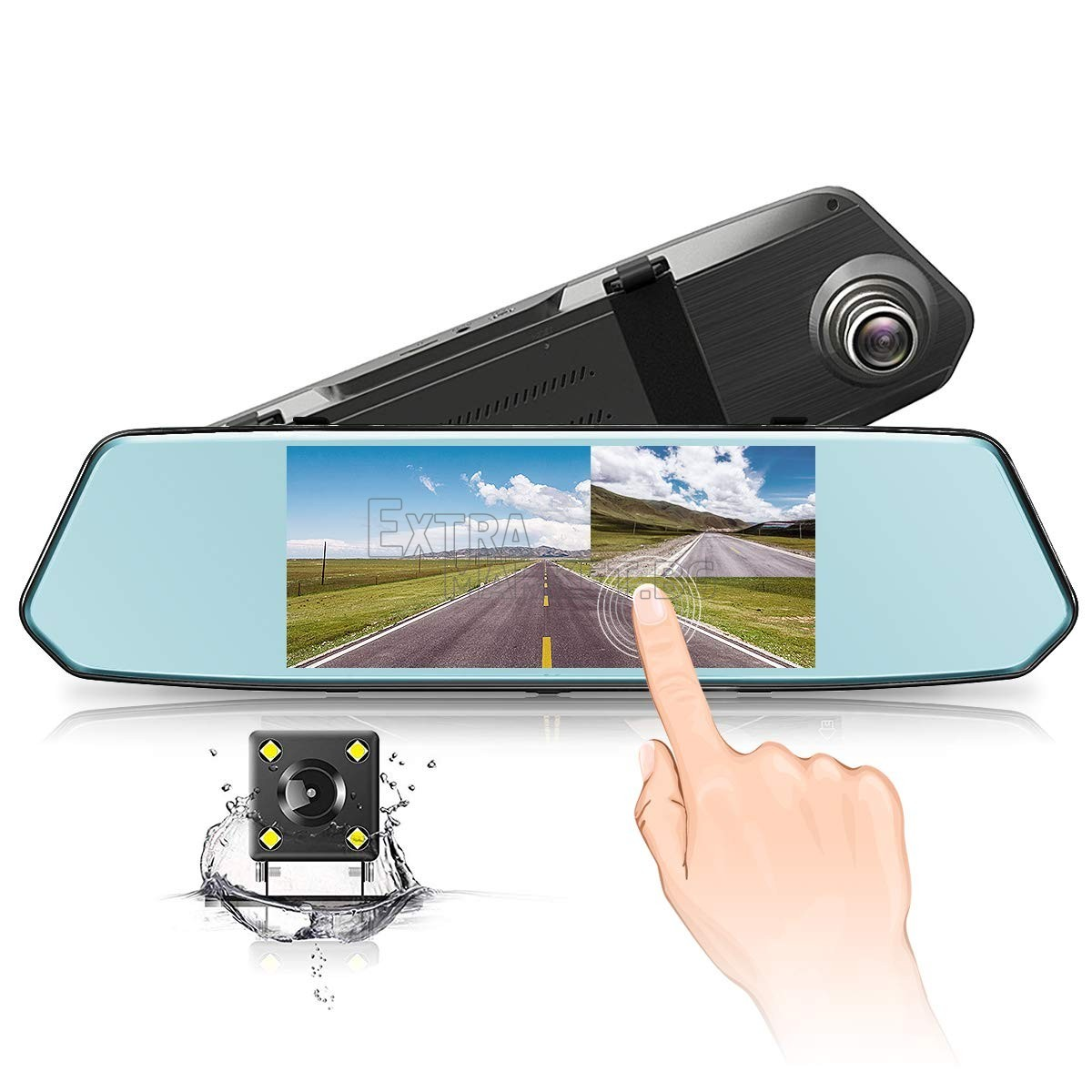 "Видеорегистратор 1080 FULL HD с 7"" Touchscreen дисплей + задна камера"