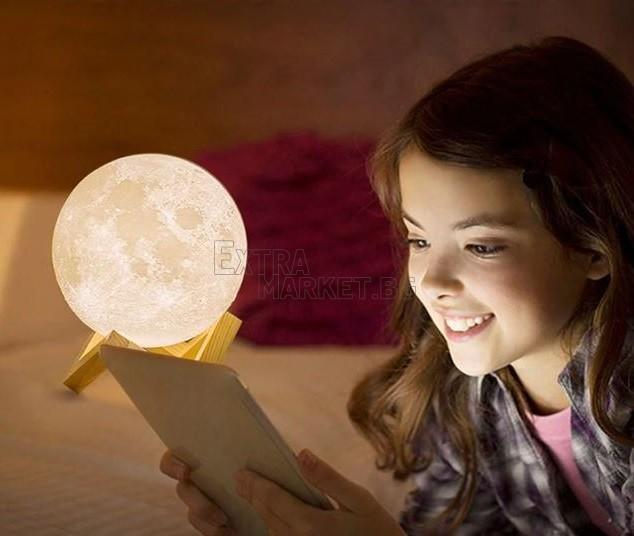 LED луна-лампа Bluetooth макет 3D Moon Lamp