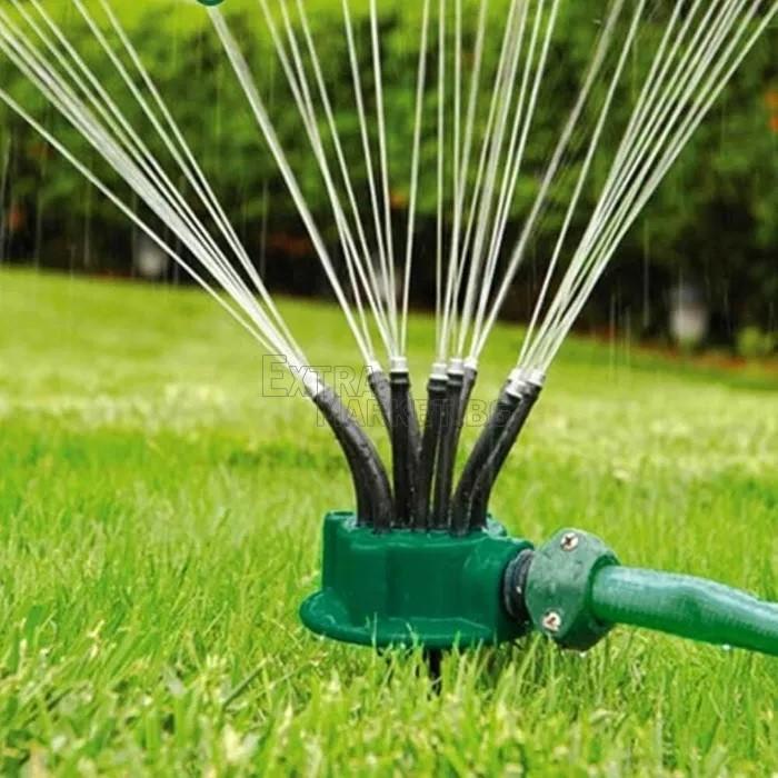 Градинска мобилна пръскачка с 12 дюзи за поливане