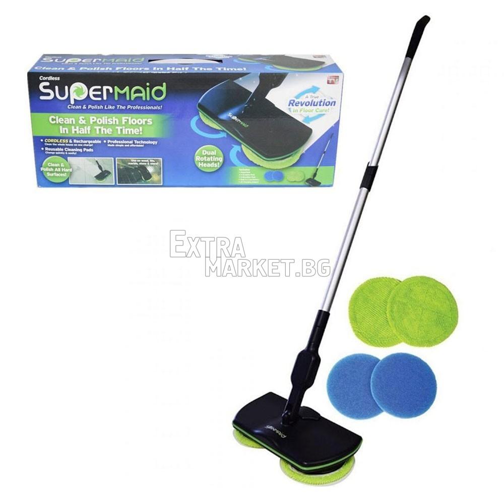 Super Maid уред за почистване и полиране на под