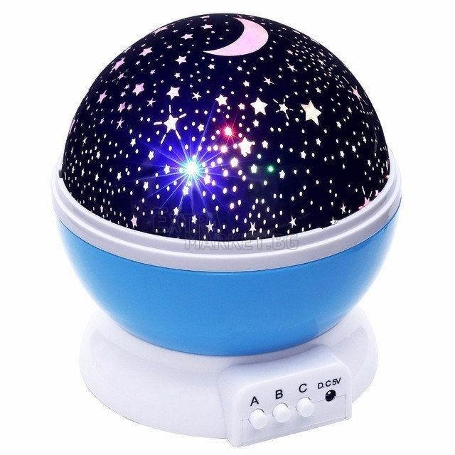 Озаряваща нощна звездна лампа Rotating Star master