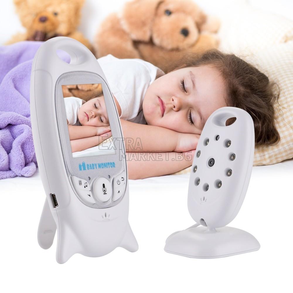Безжичен бебефон с 2 инча дисплей - двупосочно аудио