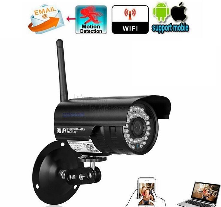 Безжична Wireless WiFi 720P HD IP Network CCTV охранителна камера