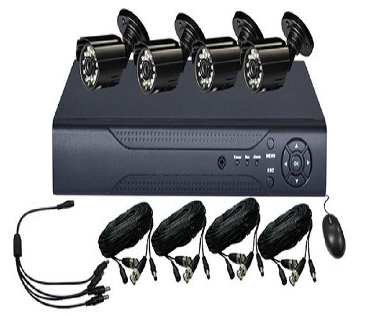 """Охранителна система за набюдение с 4 камери и DVR """"CCTV KIT"""""""