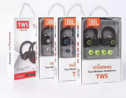 Слушалки SHOCK HEAVY BASS JBL TWS-X8