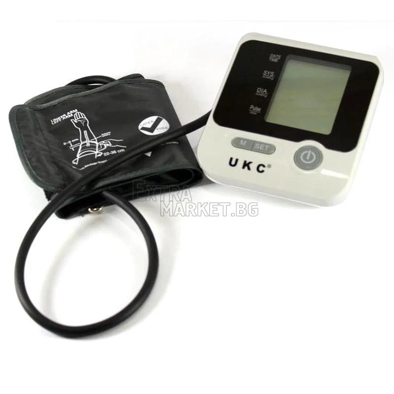Апарат за измерване на кръвно налягане с голям LCD дисплей UKC