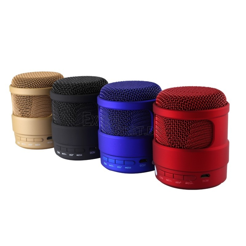 Bluetooth/МP3/FM колонка във форма на микрофон