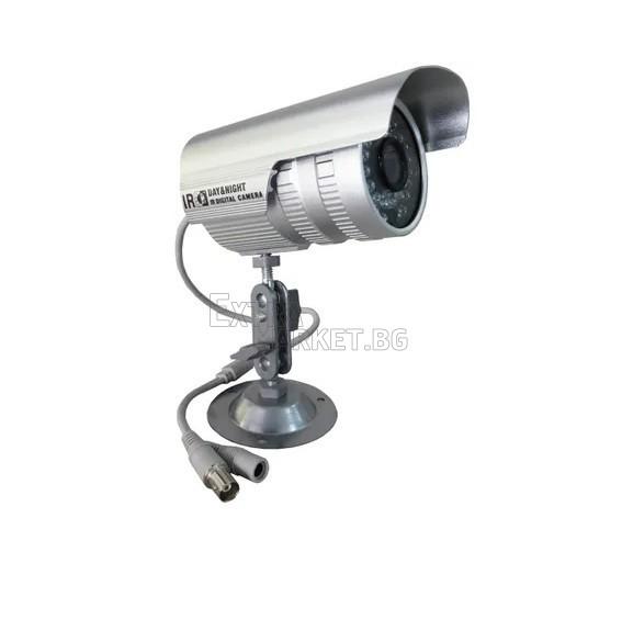 CCTV цветна инфраред охранителна камера с BNC кабел