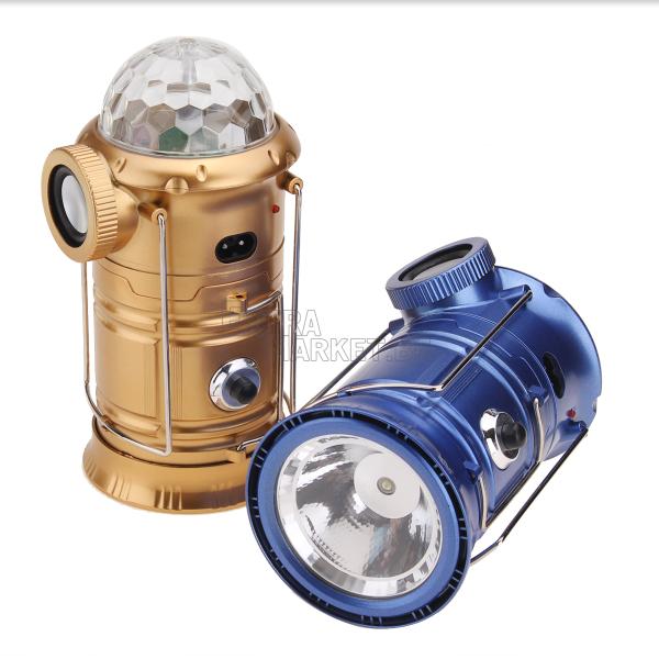 Къмпинг фенер с диско ефект и Bluetooth колонка