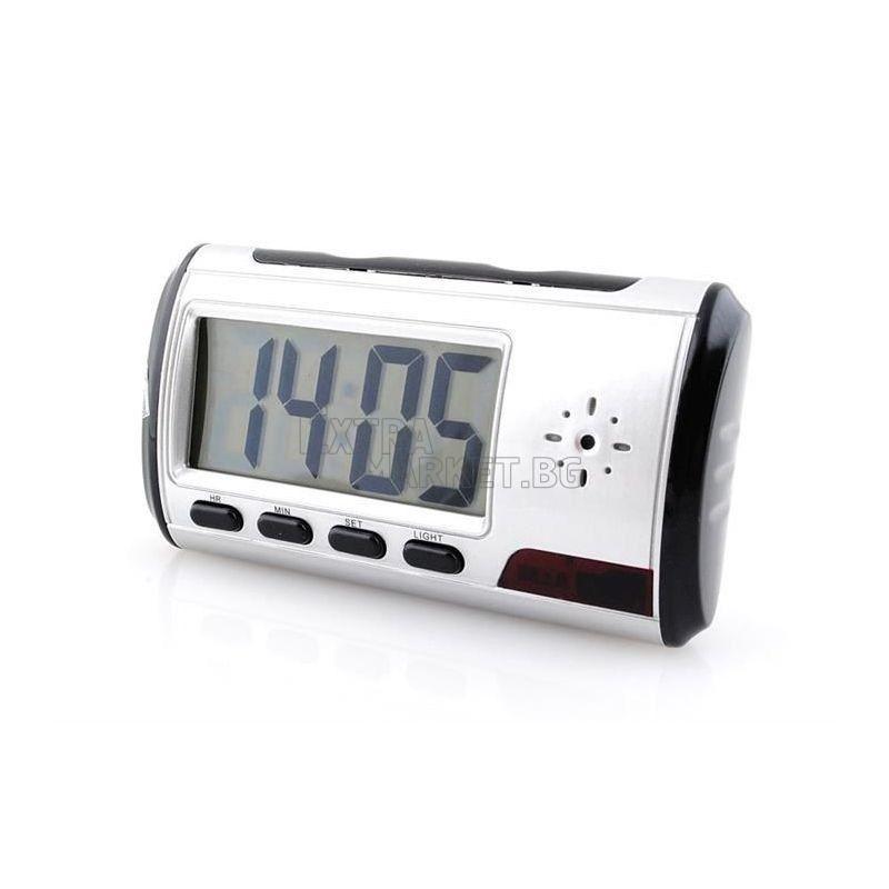 Шпионска камера скрита в електронен настолен часовник