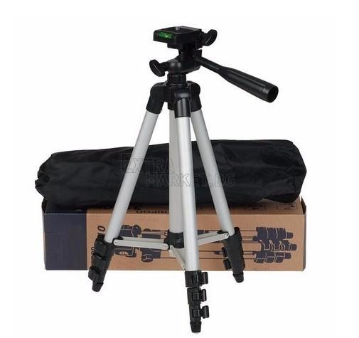 Голям 135 сантиметра статив-трипод 330А за видео/фото техника или смартфон