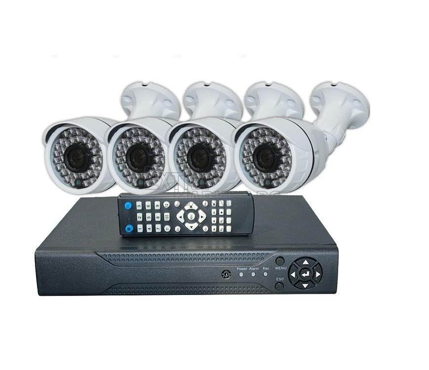 """AHD Пълен комплект 4 камери и 4 канален DVR (FULL """"AHD - HD CCTV"""")"""