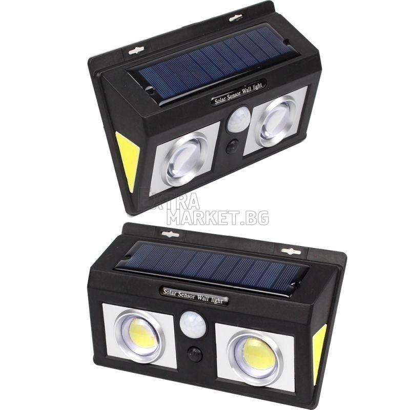 Соларна лампа с лупи CL-5066А и 4 COB осветителни панела